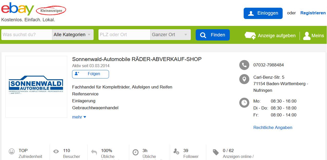 Sonnenwald-Automobile-ebay-kleinanzeigen